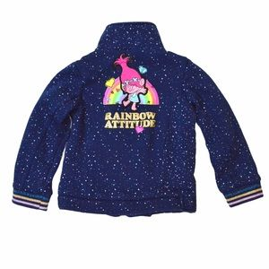Trolls Poppy Rainbow Attitude Warm Zip Jacket, 4T